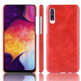 Capa Magunivers PU Lichia dura vermelho para Samsung Galaxy A50