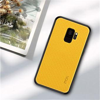Capa PU Magunivers tecido revestido amarelo para Samsung Galaxy S9 SM-G960
