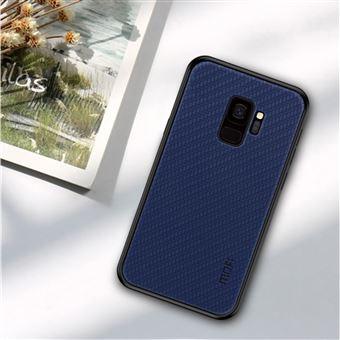 Capa PU Magunivers tecido revestido azul escuro para Samsung Galaxy S9 SM-G960