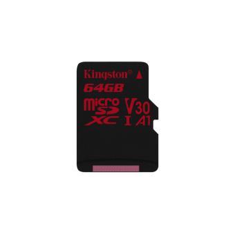 cartão de memória Kingston Technology Canvas React 64GB MicroSDXC UHS-I Class 10  Preto e Vermelho