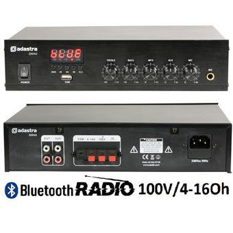 Ampflicador Adastra Com Usb/Fm E Bluetooth 100V/4-16Ohm