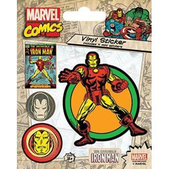 Pack de Autocolantes de vinilo- Marvel Comics  Iron Man Retro