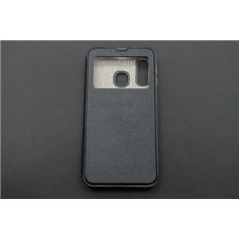 Capa skyhe Para Samsung Galaxy A40 Flip Cover Gandy Preto