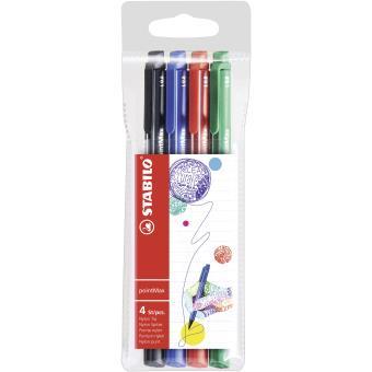 Stabilo pointMax Preto, Azul, Verde, Vermelho 4peça(s) caneta fineliner