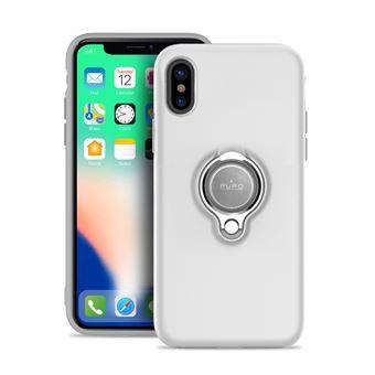 Capa Puro Magnet Ring 360° Metal iPhone X White