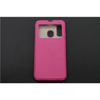 Capa skyhe Para Samsung Galaxy A40 Flip Cover Gandy Rosa