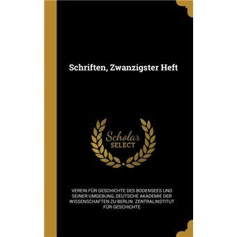 schriften, Zwanzigster Heft Hardcover