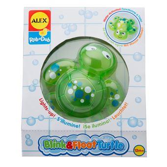ALEX Toys Rub a Dub Blink and Float Turtle Brinquedo de banho Verde