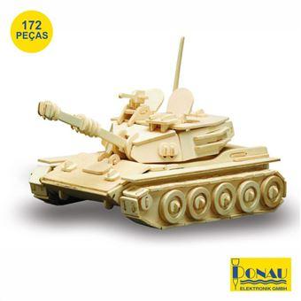 Tanque Donau Panzer Painéis de Contraplacado com 172 Peças
