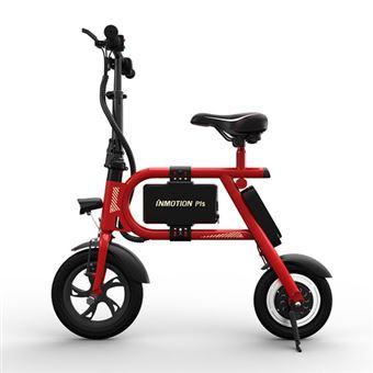 Bicicleta Elétrica Dobrável INMOTION P1S | BMS | 350W | USB | 6000mAh | 20-25km - Vermelho