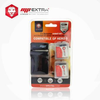 Carregador MP Extra para GOPRO HERO 5 + Pack de 2 baterias MP Extra