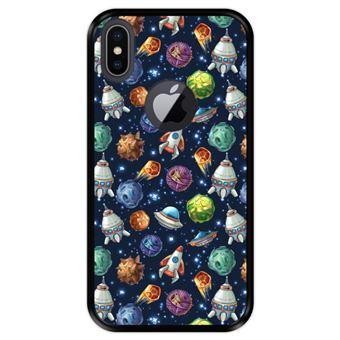 Capa Tpu Hapdey para Iphone X - Xs | Design Invasão Espacial - Preto