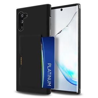 Capa Magunivers PU + TPU com Suporte para Cartão Preto para Samsung Galaxy Note 10/Note 10 5G