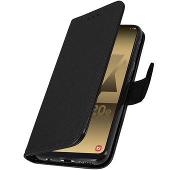 Capa Avizar para Samsung Galaxy A20E Livro Carteira Função Suporte Preto