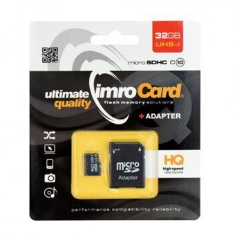 Cartão de Memória Micro SD 32GB Classe 10 com Adaptador