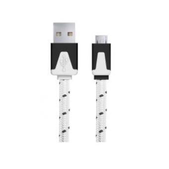 CaboMicro-USB 2.0 WPS | 1M | Nylon | Branco