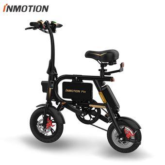 Bicicleta Elétrica Dobrável INMOTION P1H | BMS | 350W | USB | 6000mAh | 29km - Preto