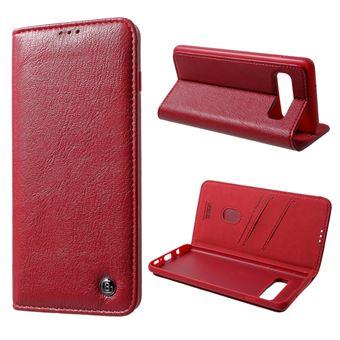 Capa Magunivers PU kala série crazy horse card holder/stand vermelho para Samsung Galaxy S10