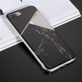 Capa Magunivers TPU padrão de mármore Preto para Apple iPhone 8 Plus/7 Plus 5.5 '