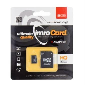 Cartão de Memória Micro SD 8GB Classe 10 com Adaptador