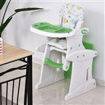 Cadeira de Bebé HOMCOM 6+ Meses | 3 Posições Ajustáveis | Acolchoado - Verde