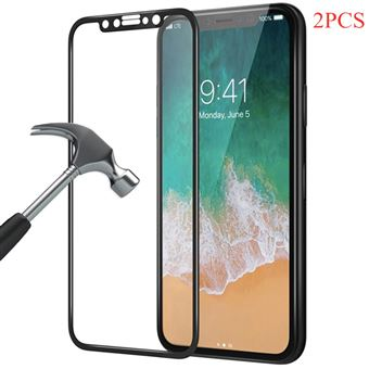 Kit 2 Peliculas PhoneShield Flexguard para iPhone X | | Full Cover | Anti-Choque | Reaplicável - Preto