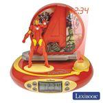 Relógio Despertador Lexibook Projeção e Efeitos Iron Man