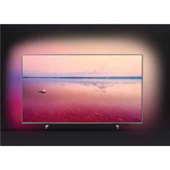 "Smart TV Philips 4K UHD 50PUS6754 50"" Prateado"