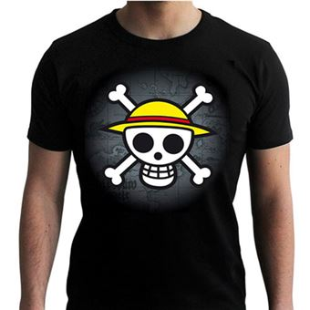 T-Shirt One Piece: Skull with Map - Tamanho S