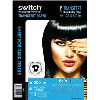 Papel Transferência Switch A4 para Impressoras a Jato de Tinta - 3 Folhas