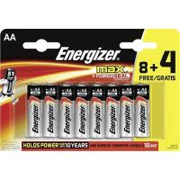 Energizer Pilhas AA MAX BL 8+4