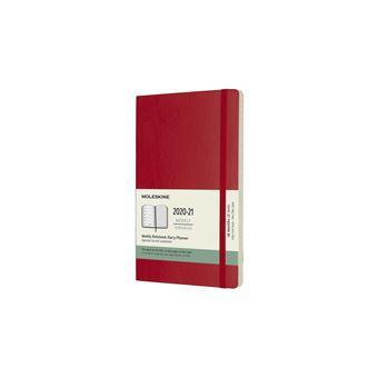 Agenda Semanal 18 Meses 2020-2021 Moleskine Grande Soft Vermelha