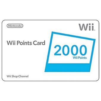 Nintendo Cartão 2000 Pontos