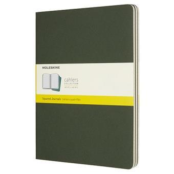 Caderno Quadriculado Moleskine Cahier XL Verde - 3 Unidades