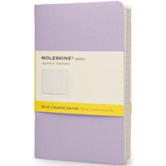 Moleskine: 3 Cadernos Quadriculados Bolso Cores Pastel