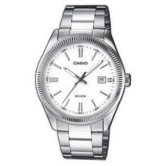 92f7d47dc40 Casio Relógio Collection MTP-1302D-7A1VEF (Branco Prateado ...