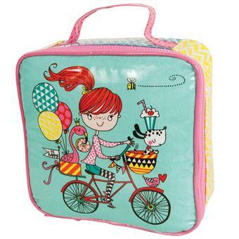 Lancheira - Rapariga e Bicicleta
