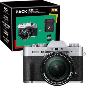 Pack Fnac Fujifilm X-T20 + XF 18-55mm f/2.8-4 R LM OIS - Prateado + Bolsa + Cartão SD