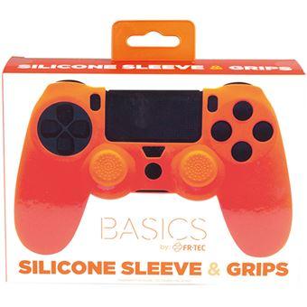 Capa de Silicone + Grips FR-TEC Laranja para DualShock 4