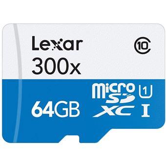 Cartão de Memória Lexar High-Performance 300x Classe 10 - MSDXC - 64GB