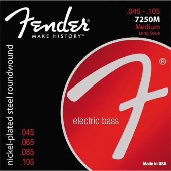 Cordas Guitarra Baixo Fender 7250 45-105