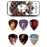 Caixa de Metal com 12 Palhetas Jimi Hendrix JHPT07M