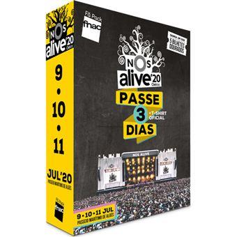 Fã Pack FNAC Nos Alive 2020 – Passe 3 Dias T-Shirt S | Preço: 159€ Pack + 11.74€ Custos de Operação