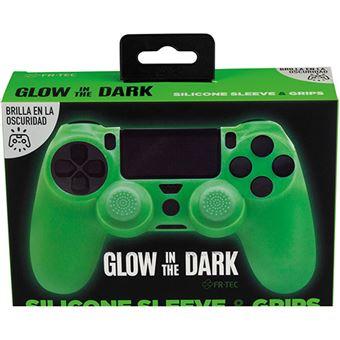 Capa de Silicone + Grips FR-TEC Brilha no Escuro Verde para DualShock 4