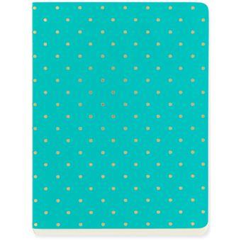 Caderno Pautado Shimmer Teal A6