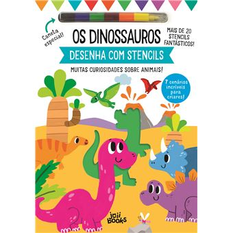 Desenha com Stencils: Os Dinossauros