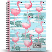 Caderno Quadriculado Oh My Pop! - Florida A4