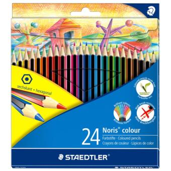 Lápis de Cor Staedtler Noris Colour - 24 Unidades