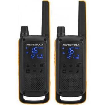 Walkie-Talkie Motorola TALKABOUT T82 Extreme Twin - Preto   Amarelo