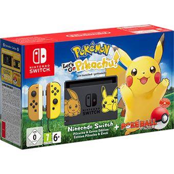 Consola Nintendo Switch Pokémon Let's Go, Pikachu  + Poké Ball Plus